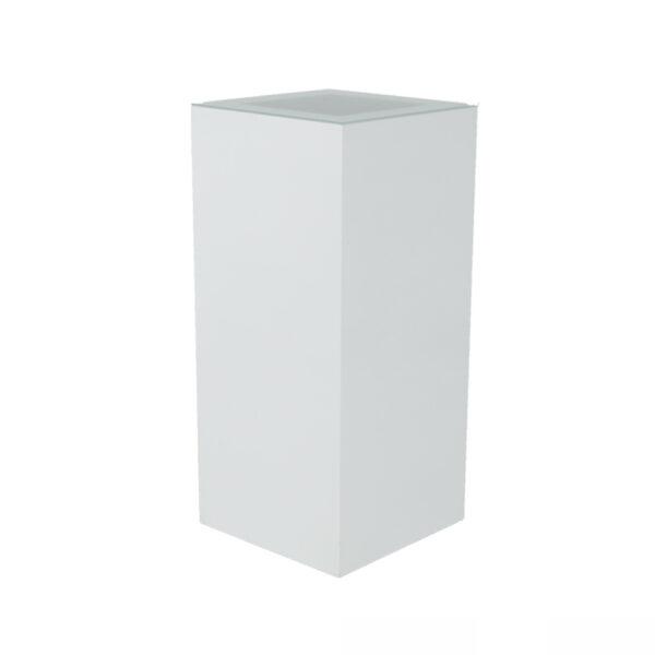 Stehtisch Quadra, weiß/Glas, HxBxT: 110x50x50cm