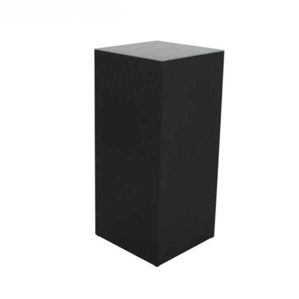 TI17-41 Stehtisch Quadra, schwarz/Glas