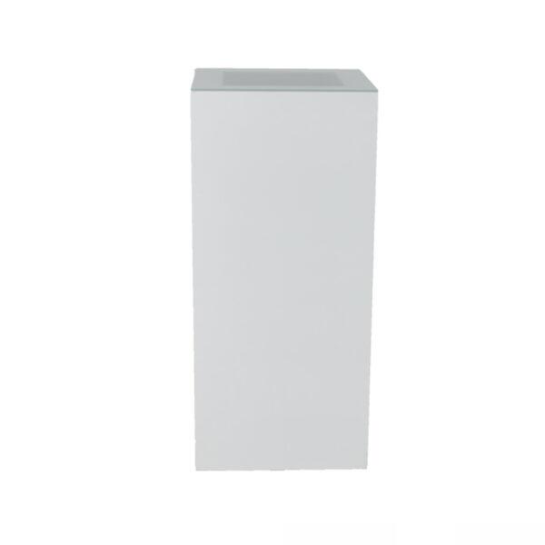 Stehtisch Quadra, weiß/Glas