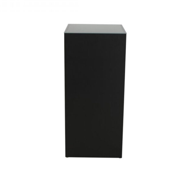 TI17-41 Stehtisch Quadra, schwarz/Glas, HxBxT: 110x50x50cm